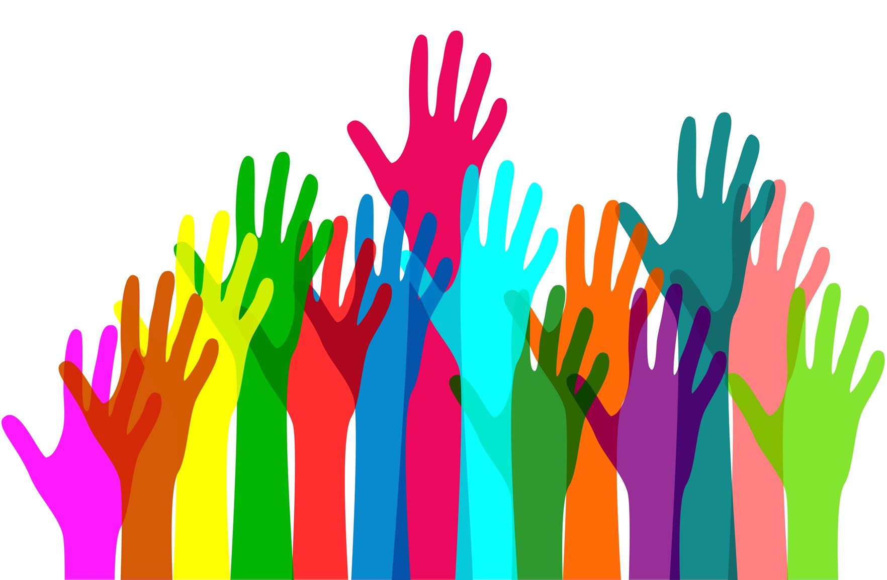 Volunteers Colorful hands