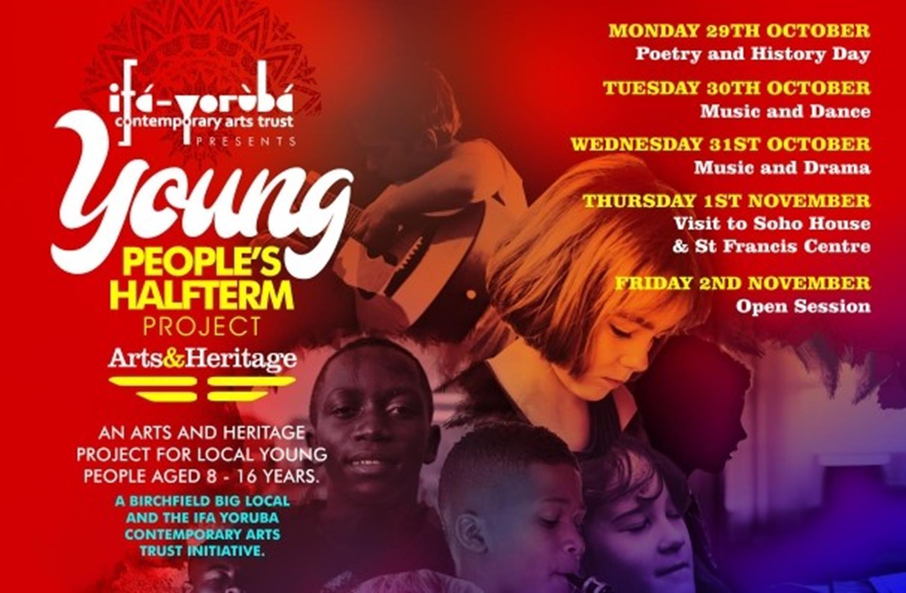 Young People's Half Term Project Poster