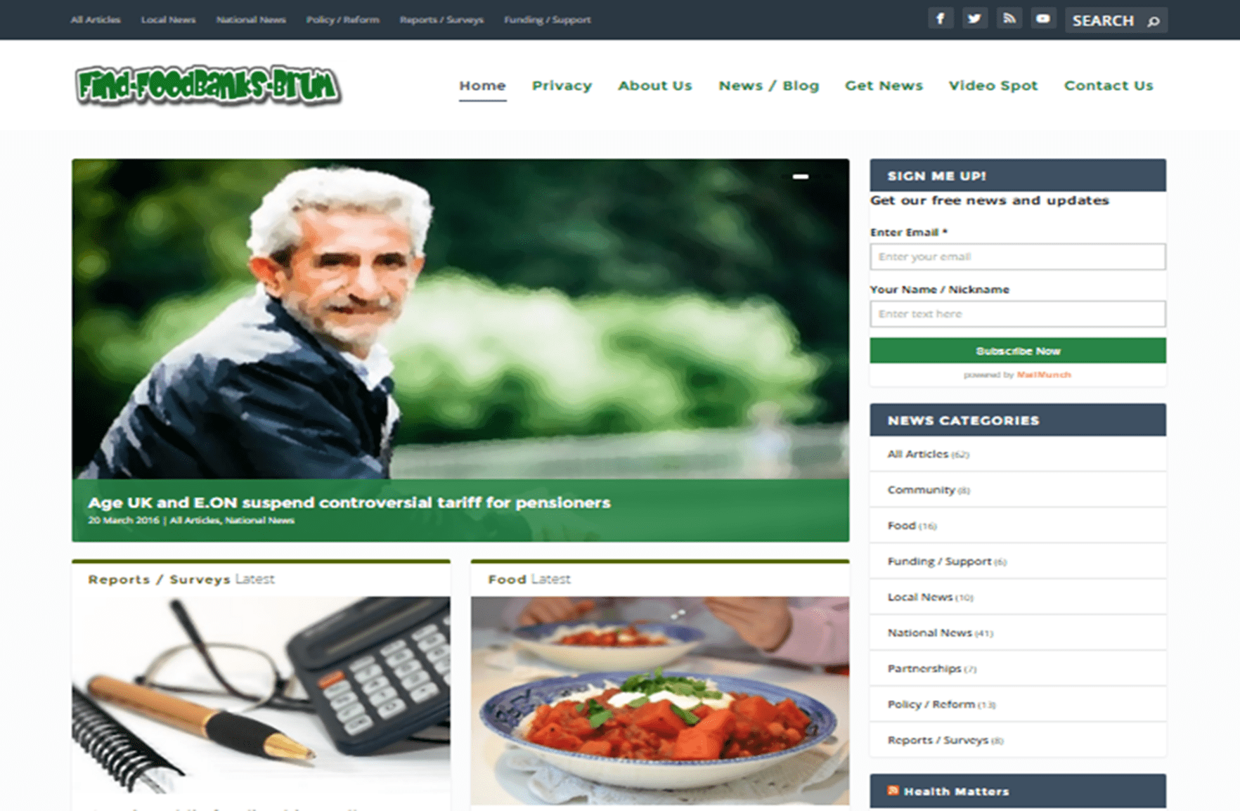 FindFoodBanksBrum Website