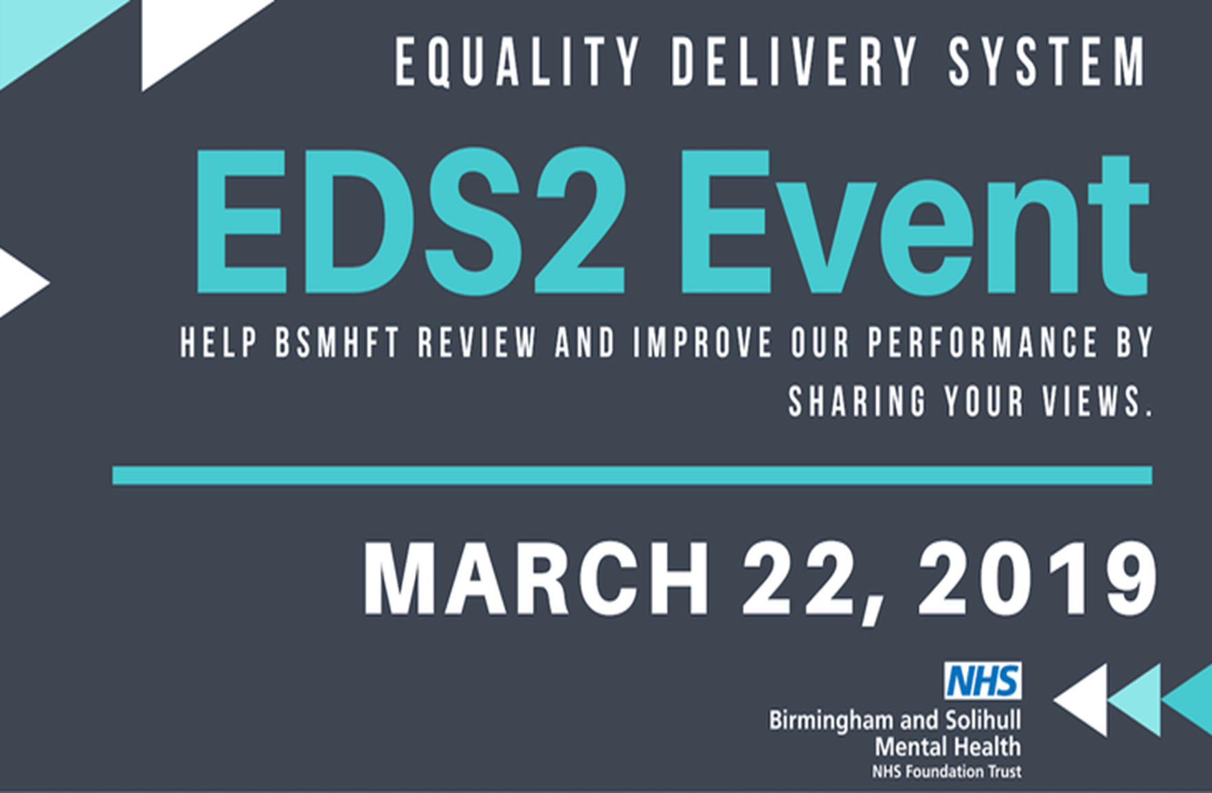 TEMP - Equality Delivery System Event flyer