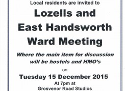 Lozells and East Handsworth Ward Meeting